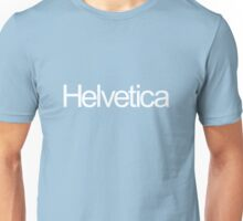 Helveticarial (white text) Unisex T-Shirt