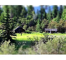 Whitefish Homestead (Montana, USA) Photographic Print