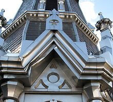 St. Raphael's Cathedral Steeple Gable by ingridthecrafty