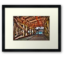 Underneath the Wallaroo Jetty Framed Print