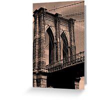 Bridge into the Big Apple Greeting Card