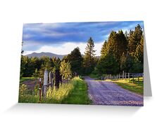 Farm Access Road Greeting Card