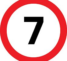 Speed Limit 7 Road Sign by ukedward