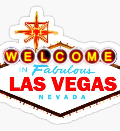 Welcome to Las Vegas Sign Sticker
