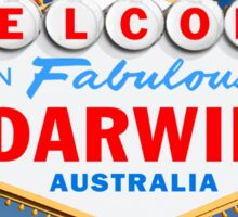 Welcome to Fabulous Darwin Sign Sticker