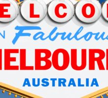 Welcome to Fabulous Melbourne Sign Sticker