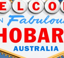 Welcome to Fabulous Hobart Sign Sticker