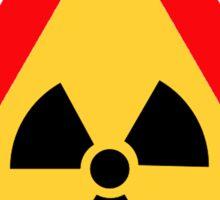 Radioactive Yellow Triangle Warning Road Sign Sticker Sticker