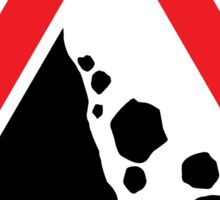 Falling Rock Warning Triangle Road Sign Sticker