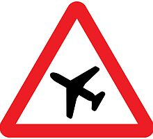 Low Flying Aircraft Warning Triangle Road Sign by ukedward