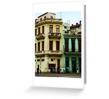 Street Scene, Havana, Cuba Greeting Card