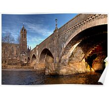 Arches Over the Water, Peebles Poster