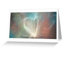 heart lighting Greeting Card
