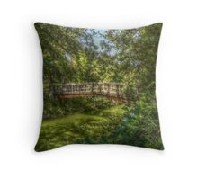 UC Davis Arboretum Bridge Throw Pillow