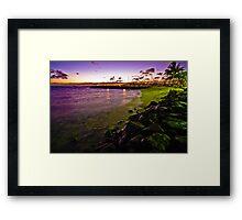 Lonely Rocky Beach Framed Print