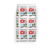 Zombie survival kit Duvet Cover