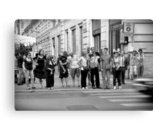 pedestrian crossing Canvas Print