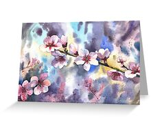 Blossoming almond Greeting Card
