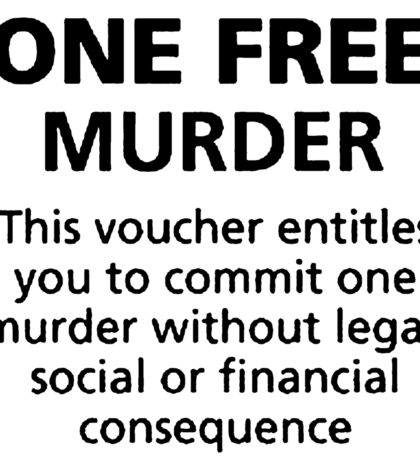 Free murder voucher Sticker