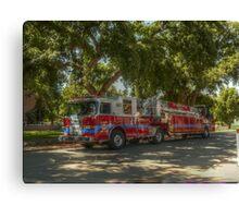 UC Davis Fire Engine Canvas Print