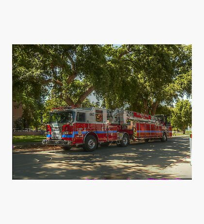 UC Davis Fire Engine Photographic Print