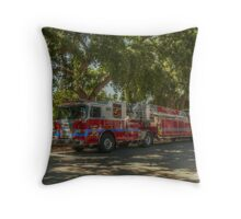 UC Davis Fire Engine Throw Pillow