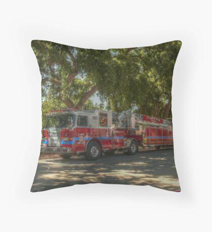 UC Davis Fire Engine Throw Pillow