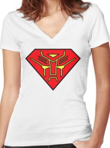 Superbot Women's Fitted V-Neck T-Shirt