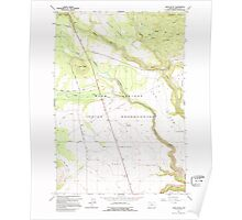USGS Topo Map Oregon Hehe Butte 280176 1962 24000 Poster