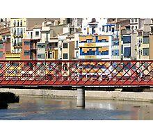 Eiffel Bridge in Girona (Espana) Photographic Print