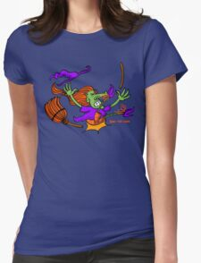 Witch Crashing And Breaking Her Broom T-Shirt