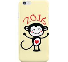 2016 Year of animal Monkey iPhone Case/Skin