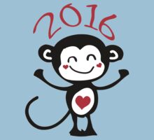 2016 Year of animal Monkey Kids Tee