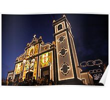 Church lighting at night Poster
