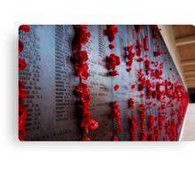 Canberra War Memorial Poppys Canvas Print