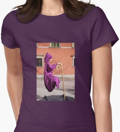 levitate girl in Old Town in Warsaw  Womens Fitted T-Shirt