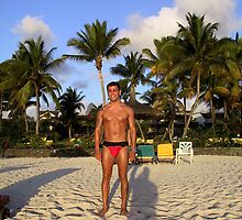 Sexy guy on the Beach in Mauritius by Nasko .