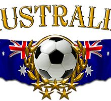 Soccer Flags Australia Sticker by ukedward