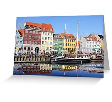 Nyhavn area in Copenhagen, Denmark Greeting Card