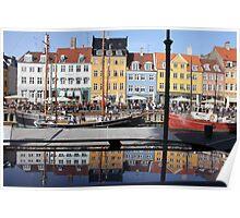 Nyhavn area in Copenhagen, Denmark Poster