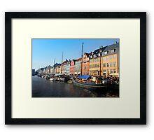 Nyhavn area in Copenhagen, Denmark Framed Print