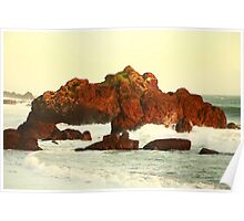 Cliffs in the warm evening light Poster