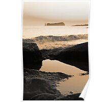 Seascape in sepia tones Poster