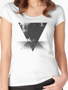 Star Fall. Women's Fitted Scoop T-Shirt