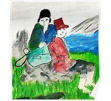 Run aways, watercolor Poster