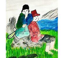 Run aways, watercolor Photographic Print