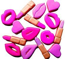 Lips lipstick and hearts by yayakatz2