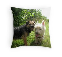 Freddie and Molly Throw Pillow