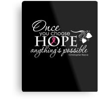 Breast Cancer Inspirational Quote Metal Print