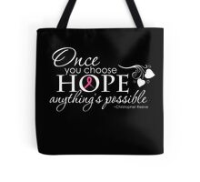 Breast Cancer Inspirational Quote Tote Bag
